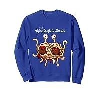 Flying Spaghetti Monster Pastafarian Vintage Shirts Sweatshirt Royal Blue
