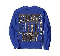 Straight Outta Army Veteran American Military Pride Gift Shirts Sweatshirt Royal Blue