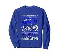 Huntington's Disease Awareness Christmas Shirts Sweatshirt Royal Blue