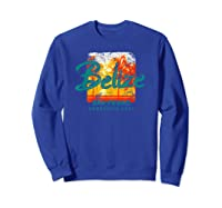 Belize Ambergris Caye Retro Vintage Travel Shirts Sweatshirt Royal Blue