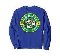 Football Is Everything - Brazil Vintage T-shirt Sweatshirt Royal Blue