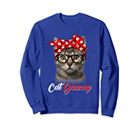 Funny Cat Granny Shirt For Cat Lovers-mothers Day Gift Sweatshirt Royal Blue