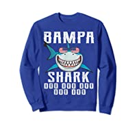 Bampa Shark Doo Doo Shirt - Matching Family Shark Shirts Sweatshirt Royal Blue