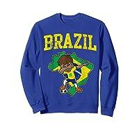 Brazil Soccer Boy Brazilian Football Dabbing Shirts Sweatshirt Royal Blue