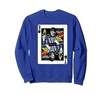 Star Trek Original Series Spock Playing Card Shirts Sweatshirt Royal Blue