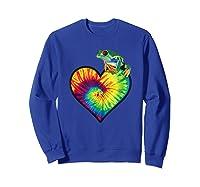 Tie-dye Heart Love Tree Frog Cute Funny Colorful T-shirt Sweatshirt Royal Blue