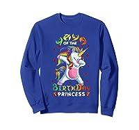 Yaya Of The Birthday Princess Unicorn Girl T-shirt Sweatshirt Royal Blue