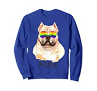 American Bully Sunglasses Pride Lgbt Rainbow Flag Shirts Sweatshirt Royal Blue