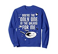Star Trek Only One For Me Valentine's Day Graphic Shirts Sweatshirt Royal Blue