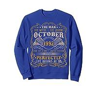 October 1992 Man Myth Legend 28th Birthday 28 Years Old Shirts Sweatshirt Royal Blue
