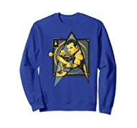 Star Trek Captain James Tiberius Kirk Fan Art Shirts Sweatshirt Royal Blue