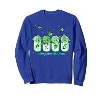 Hydrangea Flower Butterfly Ney Disease Awareness Shirts Sweatshirt Royal Blue