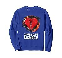 Open Heart Surgery Shirt Survivor Post Attack Recovery Gift Sweatshirt Royal Blue