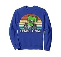 Vintage Sprint Cars T-shirt Sweatshirt Royal Blue