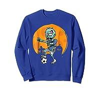 Zombie Soccer T-shirt Funny Sports Halloween Gift Shirt Sweatshirt Royal Blue