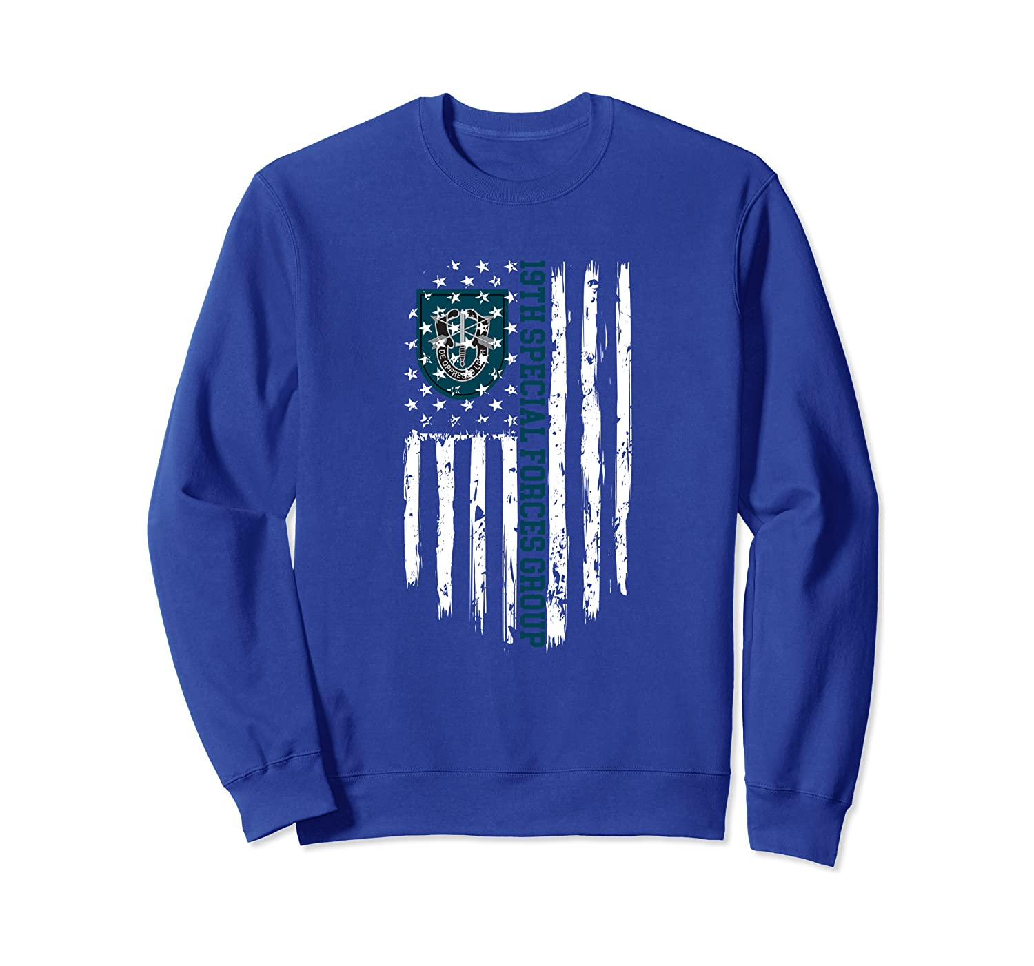 19th Special Forces Group (19th SFG) American Flag Sweatshirt