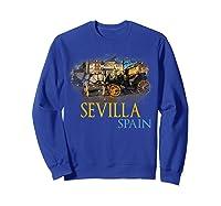 Sevilla Spain Watercolor Family Souvenir Shirts Sweatshirt Royal Blue