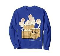 Pixar Bao Weekend Woodblock Feels Graphic Shirts Sweatshirt Royal Blue