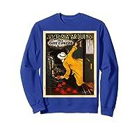 La Victoria Arduino Caffe Cafe Espresso Poster Shirts Sweatshirt Royal Blue