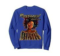 Phenoal Natural Hair Gift For Black Woman Shirts Sweatshirt Royal Blue