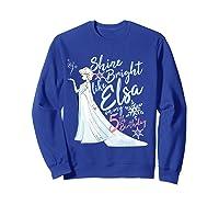 Frozen Elsa Shine Bright On My 5th Birthday Shirts Sweatshirt Royal Blue