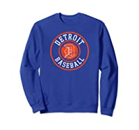 Detroit Baseball Michigan Vintage Bengal Tiger Badge Gift Shirts Sweatshirt Royal Blue