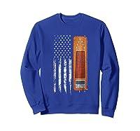 Vintage Pedal Steel Shirt - American Us Flag Shirt Sweatshirt Royal Blue