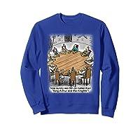 King Arthur & His Knights Of The Round Table, T-shirt Sweatshirt Royal Blue