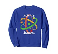 Science T-shirt March Nerd Geek Vintage Distressed Atom Sweatshirt Royal Blue