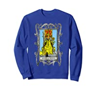 The Queen Of Wands Tarot T-shirt Sweatshirt Royal Blue