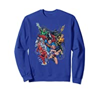 Justice League Refuse To Give Up Shirts Sweatshirt Royal Blue