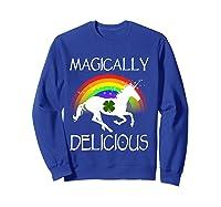 Magically Delicious Unicorn St Patrick's Day Ns Shirts Sweatshirt Royal Blue