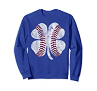 St Patrick\\\'s Day Shamrock Baseball Saint Paddy\\\'s T-shirt Sweatshirt Royal Blue