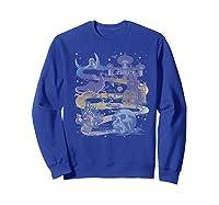 Disney Villains Map Premium T-shirt Sweatshirt Royal Blue