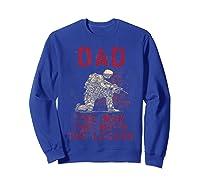 Dad, Man, Myth, Legend, Husband Military Veterans Shirts Sweatshirt Royal Blue