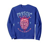 Twilight Zone Mystic Seer Yes Or No Question Graphic T-shirt Sweatshirt Royal Blue