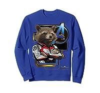 Marvel Avengers Endgame Rocket Logo Graphic T-shirt Sweatshirt Royal Blue