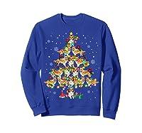 Shetland Sheepdog Christmas Tree Funny Sheltie Christmas T-shirt Sweatshirt Royal Blue