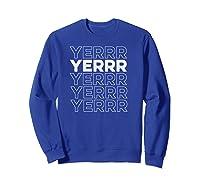 Yerrr New York Pullover Shirts Sweatshirt Royal Blue