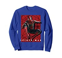 Marvel Infinity War Spider-man Web Jump Graphic T-shirt Sweatshirt Royal Blue