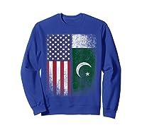 Pakistan Usa Pakistani American Flag Pride Shirts Sweatshirt Royal Blue