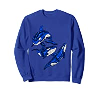 Pod Of Orca Whales T-shirt Sweatshirt Royal Blue