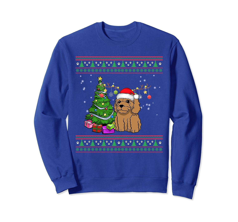 Merry Christmas Labradoodle Dog Ugly Sweatshirt-Awarplus