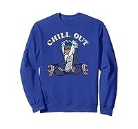 Lion King Rafiki Chill Out Meditation Shirts Sweatshirt Royal Blue