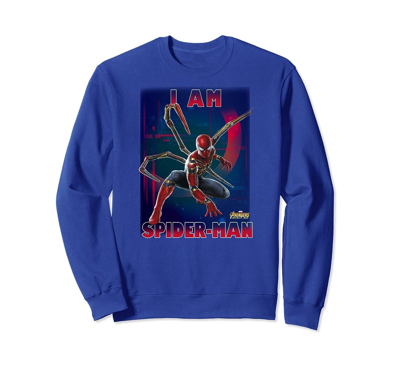 Marvel Avengers Infinity War I Am Spider-man T-shirt Crewneck Sweater