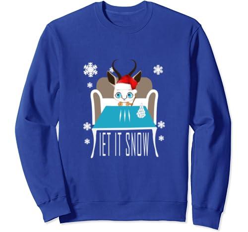 Gazelle Cocaine Santa Let It Snow Christmas Sweater Comic Sweatshirt