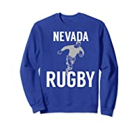 Nevada Rugby Player T-shirt Sweatshirt Royal Blue