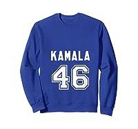 Kamala 46 - Sports Style Kamala Harris Supporter T-shirt Sweatshirt Royal Blue