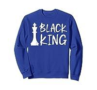 Black King Chess Piece Proud Black Melanin Gift Shirts Sweatshirt Royal Blue
