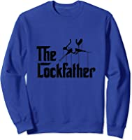Funny Locksmith - Lockfather T-shirt Sweatshirt Royal Blue